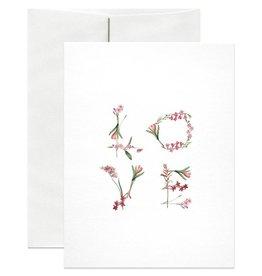 Open Sea Design Co. Floral A2 Love Notecard