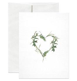 Open Sea Design Co. Green Heart A2 Love Notecard