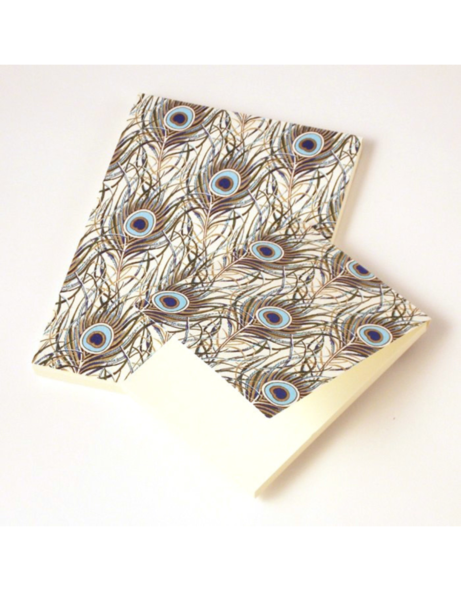 Rossi Notepad Peacock Feathers A6