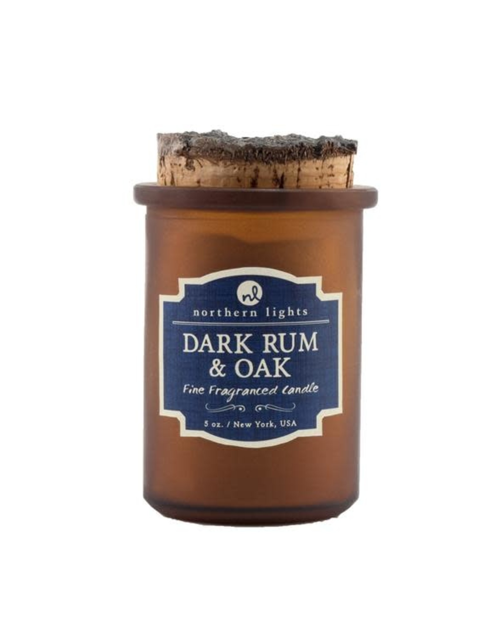 Northern Lights Candles Dark Rum & Oak 5oz Spirit Candle