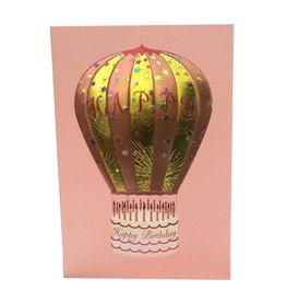 Paula Skene Designs Hot Air Balloon A7 Card on Pink