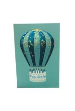 Paula Skene Designs Hot Air Balloon A7 Card on Teal