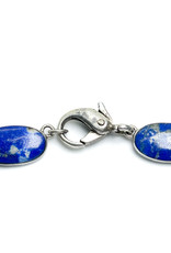 980 Silver Oval Necklace with 19 Lapis