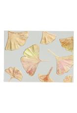Paula Skene Designs Ecru Ginkgo Pattern Blank Card