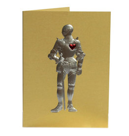 Paula Skene Designs Gold Knight in Armour Anniversary Card