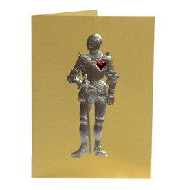 Paula Skene Designs Gold Knight in Armour Anniversary Card