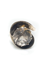 14K Gold Ring with Large Light Brown Spinel