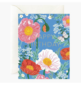 Oana Befort Poppies Birthday A2 Greeting Card