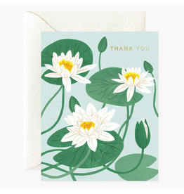 Oana Befort Water Lillies Thank You A2 Greeting Card