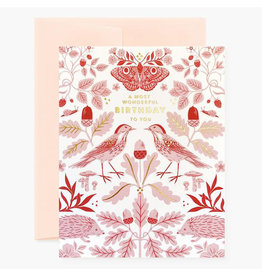 Oana Befort Flora & Fauna Birthday Card