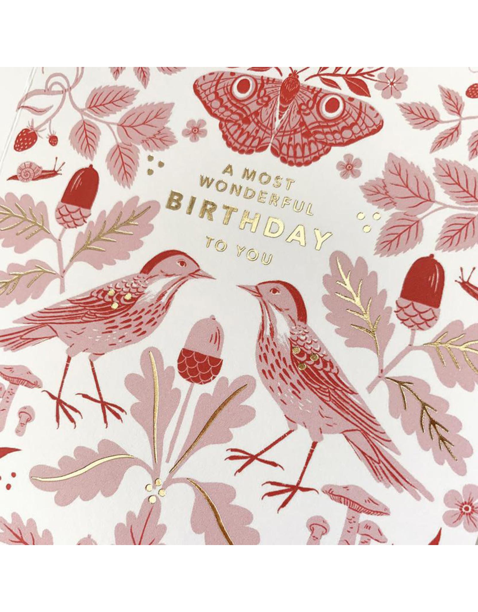 Oana Befort Flora & Fauna Birthday Card