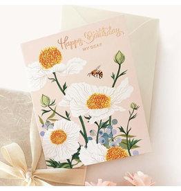 Oana Befort Matilija Poppies Birthday Card