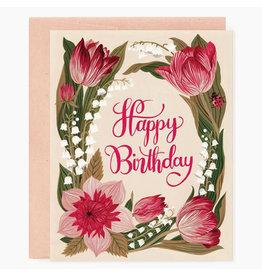 Oana Befort Garden Birthday A2 Greeting Card