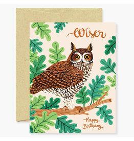 Oana Befort Owl Birthday A2 Greeting Card