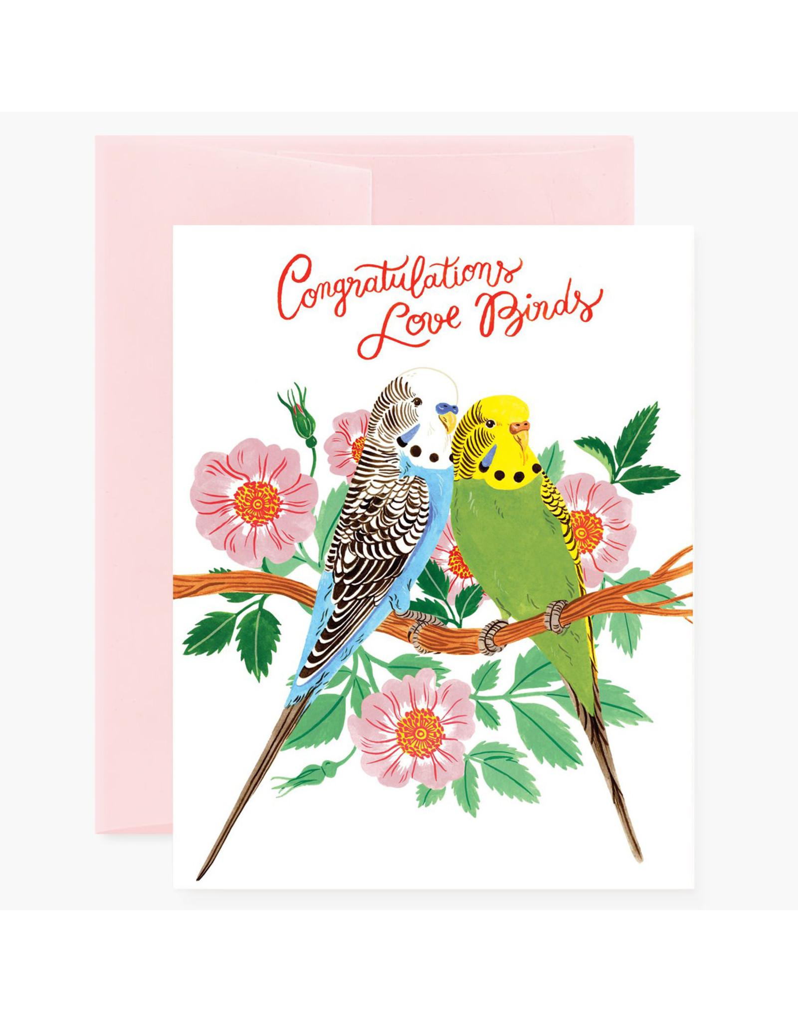 Oana Befort Love Birds Congratulations Card