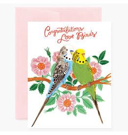Oana Befort Love Birds Congratulations A2 Greeting Card