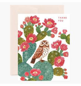 Oana Befort Owl Thank You A2 Greeting Card