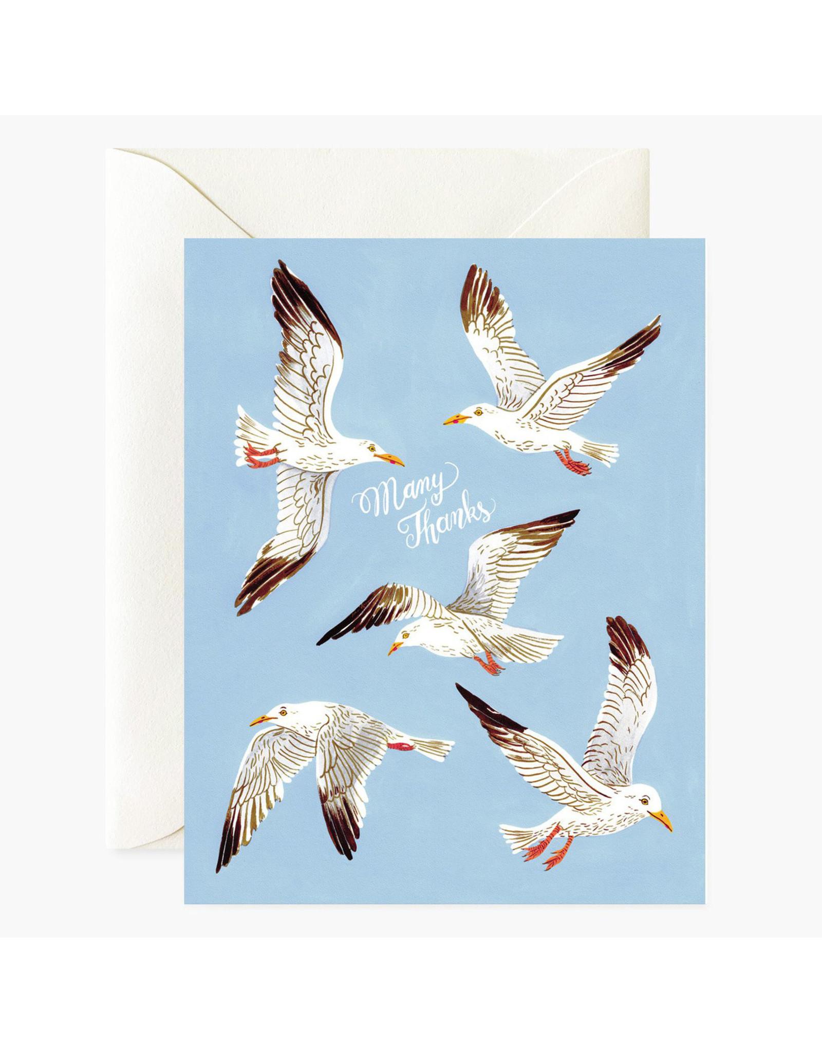 Oana Befort Seagulls Many Thanks Greeting Card