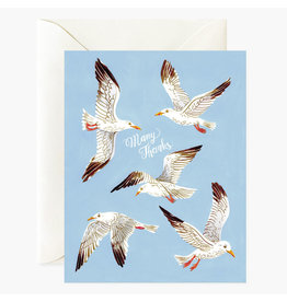Oana Befort Seagulls Many Thanks A2 Greeting Card