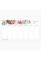 Oana Befort Folk Florals Weekly Desk Notepad