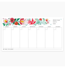 Oana Befort Folk Florals Weekly Desk Notepad