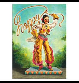 Cartolina Happy Birthday Cowgirl A6 Notecard