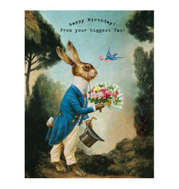 Cartolina Happy Birthday From Your Biggest Fan! A2 Notecard