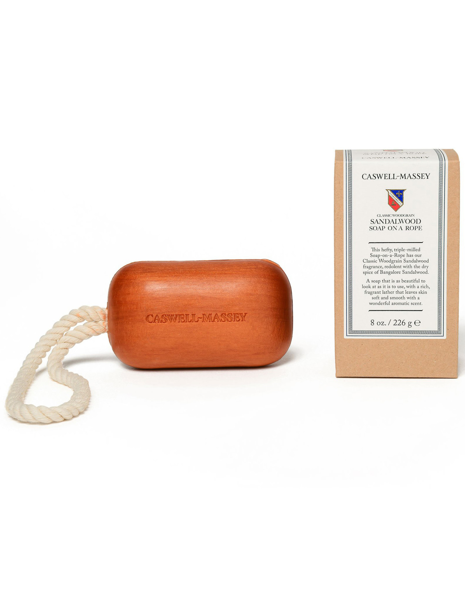 Caswell-Massey Apothecary Heritage Woodgrain Sandalwood Soap-on-a-Rope