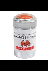 J. Herbin Orange Indien 6 Cartridges Tin Orange Ink