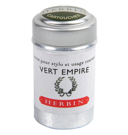 J. Herbin Vert Empire 6 Cartridges Tin Green Ink