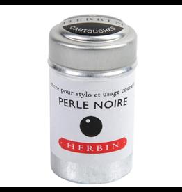 J. Herbin Perle Noire 6 Cartridges Tin Black Ink