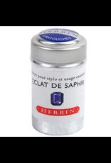 J. Herbin Éclat de Saphir 6 Cartridges Tin Dark Blue Ink