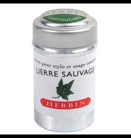 J. Herbin Lierre Sauvage 6 Cartridges Tin Green Ink
