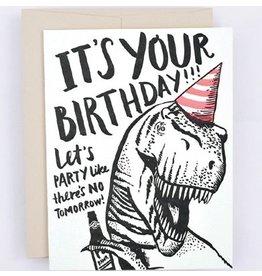 Hello!Lucky T-Rex Birthday A2 Card