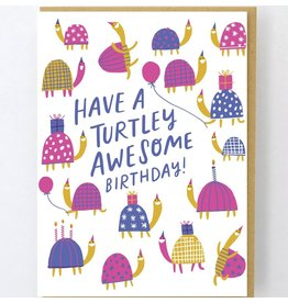 Hello!Lucky Turtley Awesome A2 Card