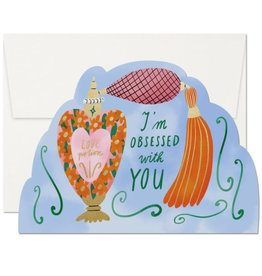 Red Cap Cards Obsessed with You Die Cut Love A7 Notecard
