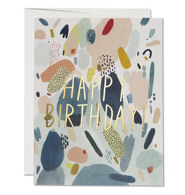 Red Cap Cards Abstract Birthday A2 Notecard