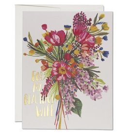 Red Cap Cards Beautiful Wife Anniversary A2 Notecard
