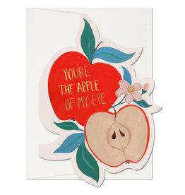 Red Cap Cards Apple of My Eye Die Cut Love A7 Notecard