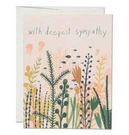 Red Cap Cards Underwater Sympathy Consolation A2 Notecard