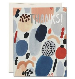 Red Cap Cards Paint Palette Thank You A2 Notecard