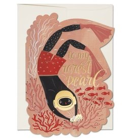 Red Cap Cards Pearl Diver Die Cut Love A7 Notecard