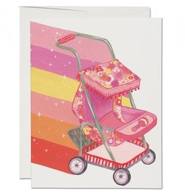 Red Cap Cards Magical Stroller Baby A2 Notecard