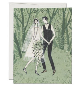 Red Cap Cards Man and Wife Wedding A2 Notecard