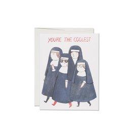 Red Cap Cards Nuns Congrats A2 Notecard