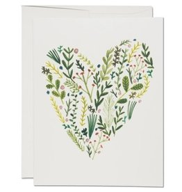Red Cap Cards Floral Heart Love A2 Notecard