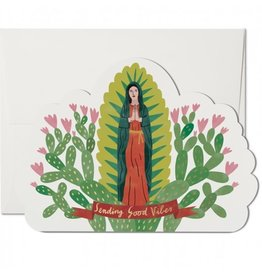 Red Cap Cards Saintly Vibes Die Cut Get Well A7 Notecard