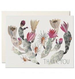 Red Cap Cards California Cactus Thank You A2 Notecard
