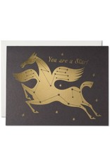 Red Cap Cards Star Horse Congrats A2 Notecard