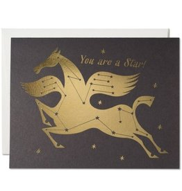 Red Cap Cards Star Horse Congrats A2 Notecard